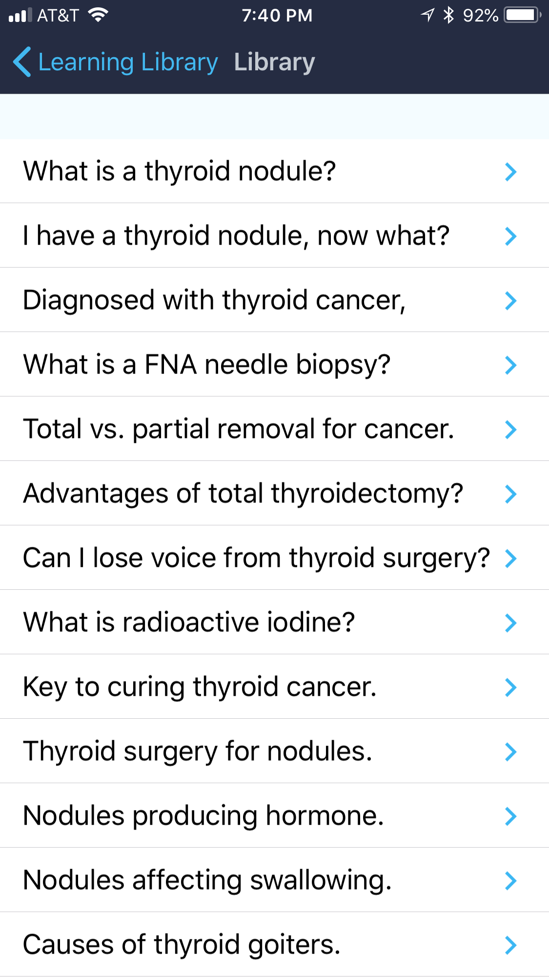 Clayman Thyroid Center App